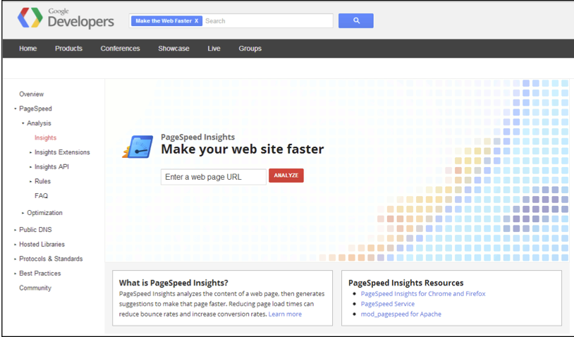 Old PageSpeed Insights